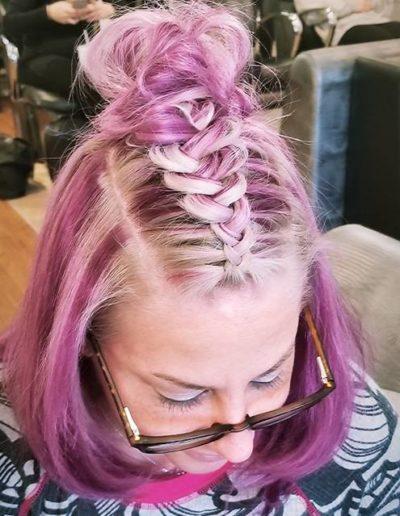 pink hair color slon lyndhurst